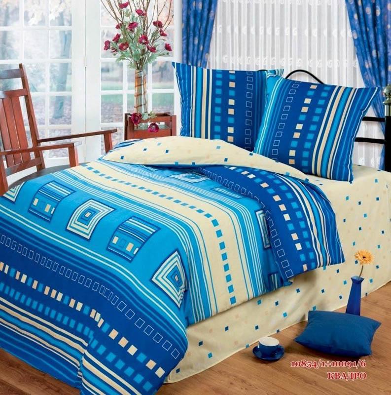 Постельное белье Любимый дом Постельное белье Квадро (1,5 спал.) цена