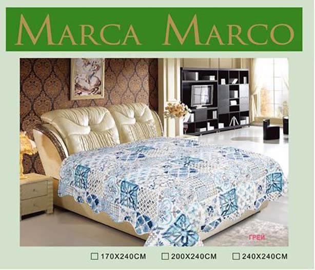 Покрывало MАRCA MARCO Покрывало Грей (170х240 см) dorothy s нome покрывало принт мурманск 2 сп 170х240 микрофибра стежка