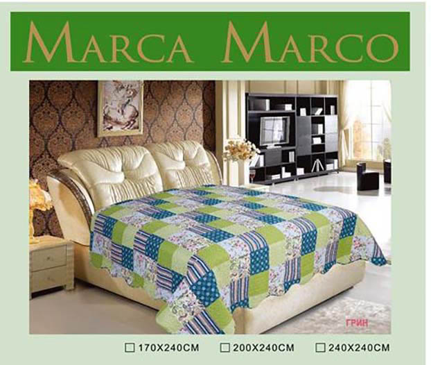 Покрывало MАRCA MARCO Покрывало Грин (170х240 см) dorothy s нome покрывало принт мурманск 2 сп 170х240 микрофибра стежка