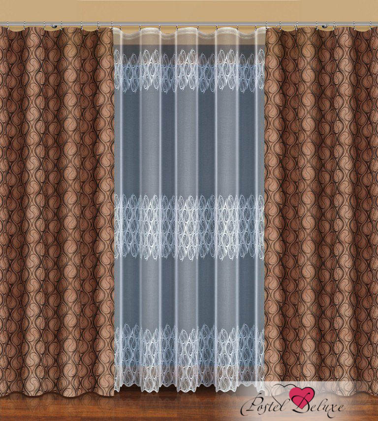 Шторы Haft Классические шторы Malina Цвет: Шоколадный шторы tac классические шторы winx цвет персиковый 200x265 см
