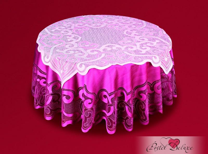 Скатерти и салфетки Haft Скатерть Ванесса Цвет: Розовое Вино (круглая 160 см,100х100 см)