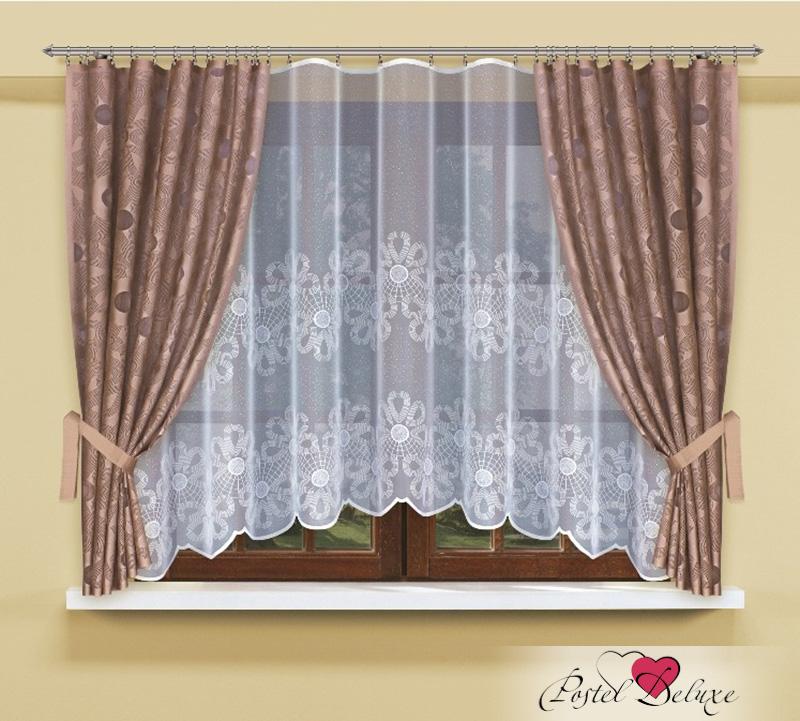 Шторы Haft Классические шторы Ромашки Цвет: Каппучино шторы tac классические шторы winx цвет персиковый 200x265 см