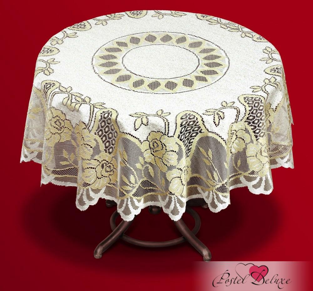 Скатерти и салфетки Haft Скатерть Altair Цвет: Крем/Золото (круглая 140 см)