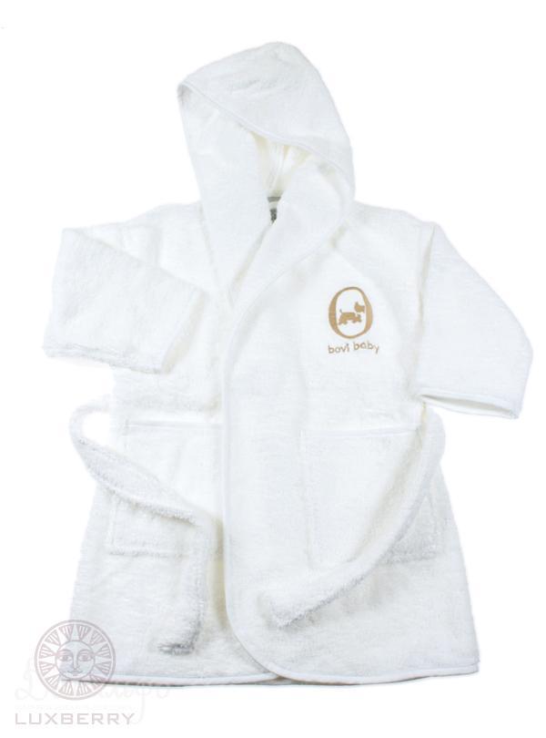 Детские халаты BOVI Детский халат Собачки Цвет: Бело-Бежевый (7-8 лет) халаты домашние лори халат
