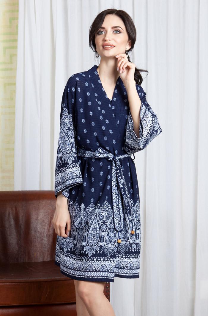 Домашние халаты Mia-Mia Домашний халат Leona Цвет: Синий (S) домашние халаты mia mia домашний халат leona цвет синий xl