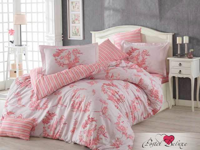 где купить Постельное белье HOBBY HOME COLLECTION Постельное белье Vanessa Цвет: Розовый (1,5 спал.) по лучшей цене