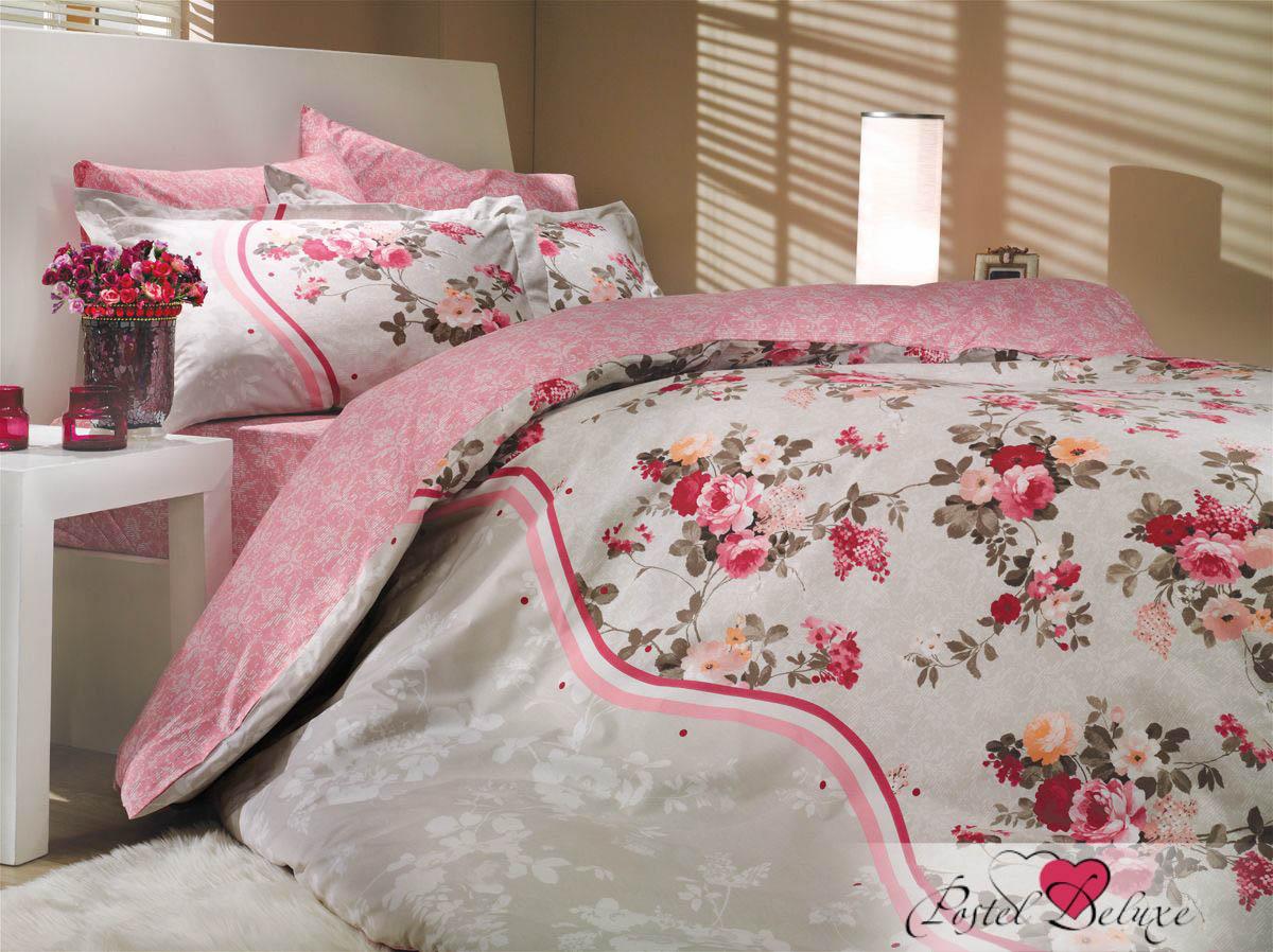 где купить Постельное белье HOBBY HOME COLLECTION Постельное белье Susana Цвет: Розовый (2 сп. евро) по лучшей цене