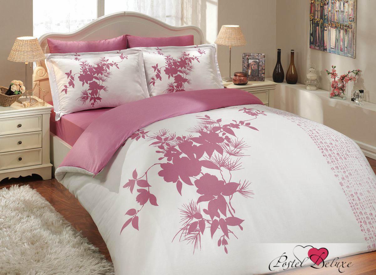 где купить Постельное белье HOBBY HOME COLLECTION Постельное белье Estate Цвет: Фуксия (2 сп. евро) по лучшей цене