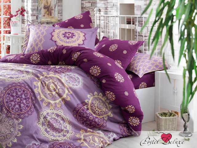 где купить Постельное белье HOBBY HOME COLLECTION Постельное белье Ottoman Цвет: Фиолетовый (2 сп. евро) по лучшей цене