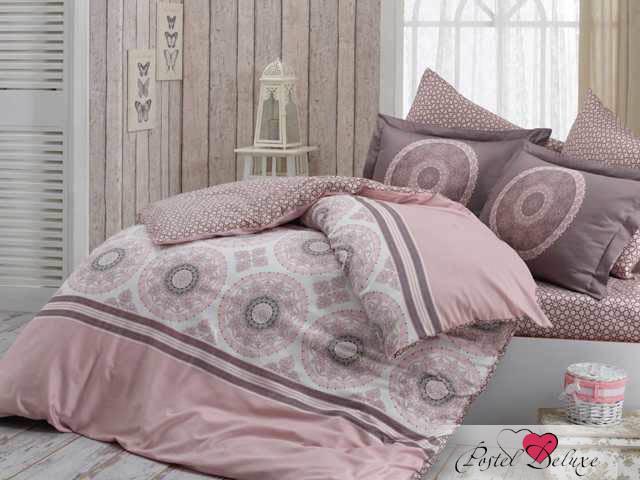 где купить Постельное белье HOBBY HOME COLLECTION Постельное белье Silvana Цвет: Розовый (2 сп. евро) по лучшей цене