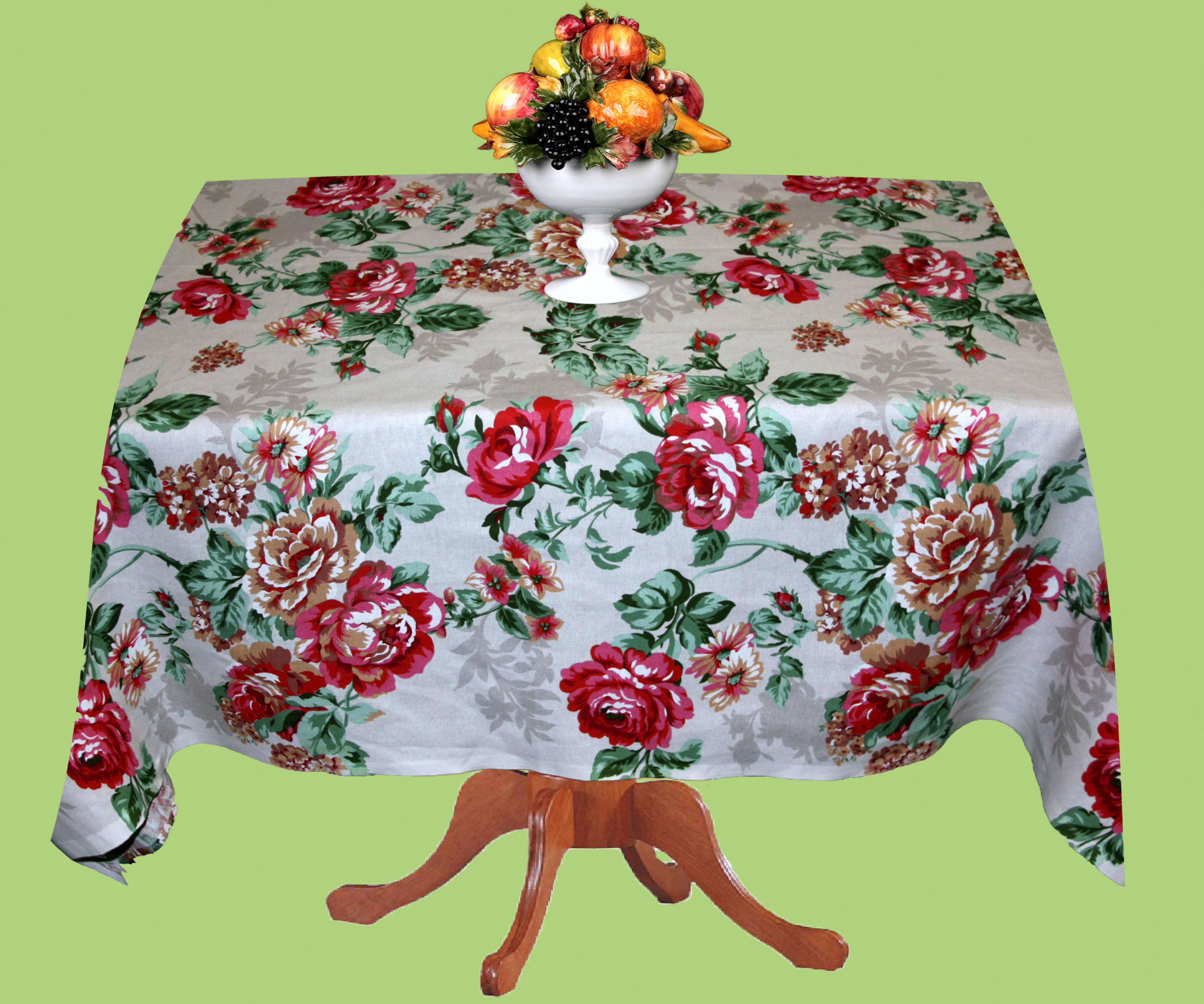 Скатерти и салфетки Elegante Скатерть Цветы (150х180 см)