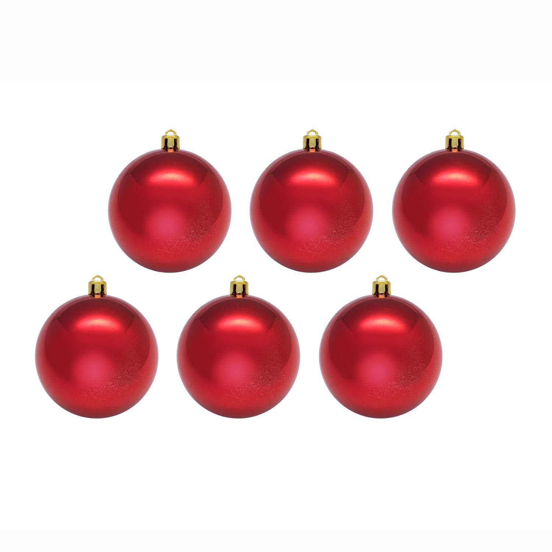 {}  Елочные шарики Nydia Цвет: Красный (8 см - 6 шт)