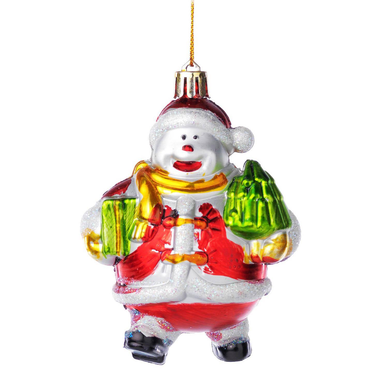 Елочная игрушка снеговик фото 86