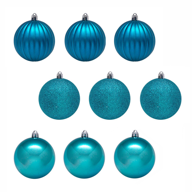где купить {}  Елочные шарики Zeke Цвет: Синий (6 см - 9 шт) по лучшей цене