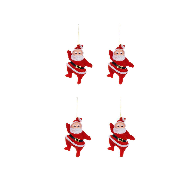 {} Елочные подвески Дед Мороз (8х9 см - 4 шт) игрушка siku бугатти eb 16 4 7 8 9 8 4см 1305