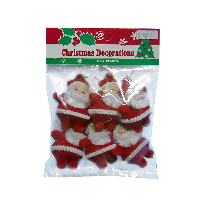 {}  Елочные подвески Дед Мороз (4х5 см - 6 шт) майка классическая printio вольскваген жук