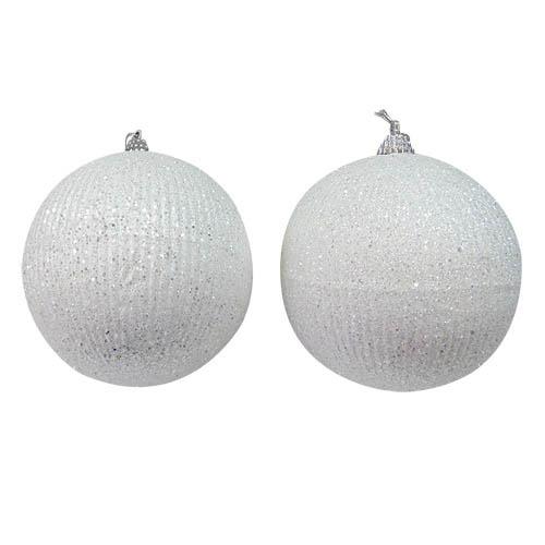 {}  Елочные шарики Shaquila Цвет: Белый (10 см - 2 шт) елочные шарики raven цвет красный 10 см 2 шт