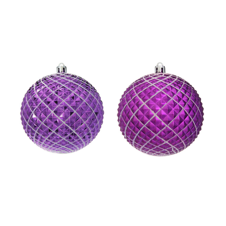 {}  Елочные шарики Jami Цвет: Фиолетовый (10 см - 2 шт) елочные шарики raven цвет красный 10 см 2 шт