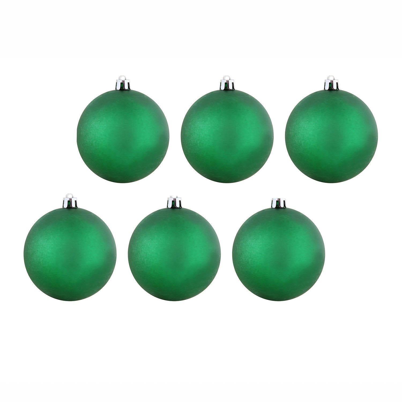 {}  Елочные шарики Theda Цвет: Зеленый (7 см - 6 шт)