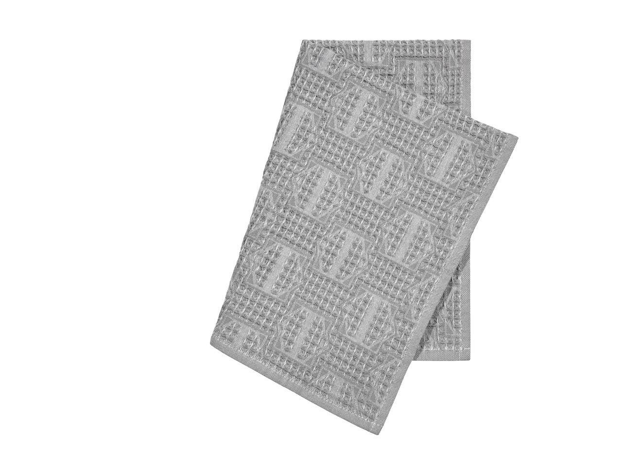 где купить {} Togas Кухонное полотенце Арно Цвет: Темно-Серый (40х60 см - 2 шт) по лучшей цене