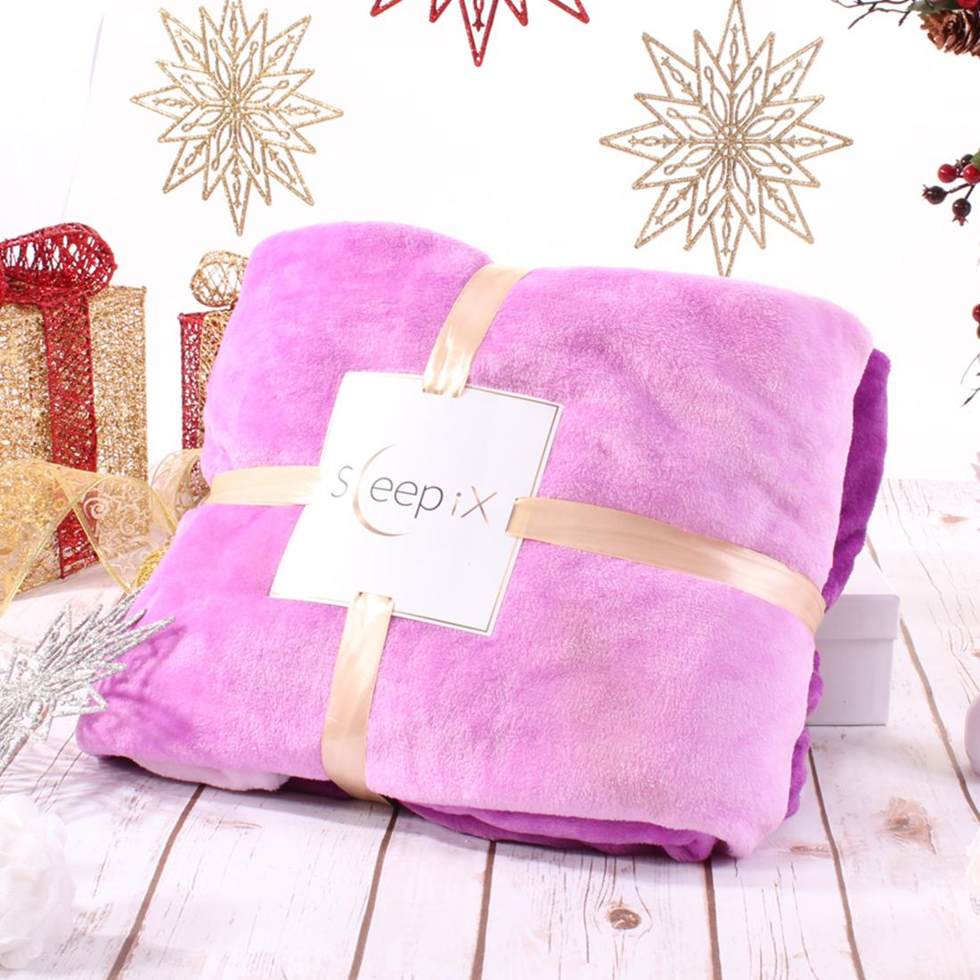 Плед Sleep iX Плед с рукавами Plushy Ombre Цвет: Сиреневый (150х200 см)