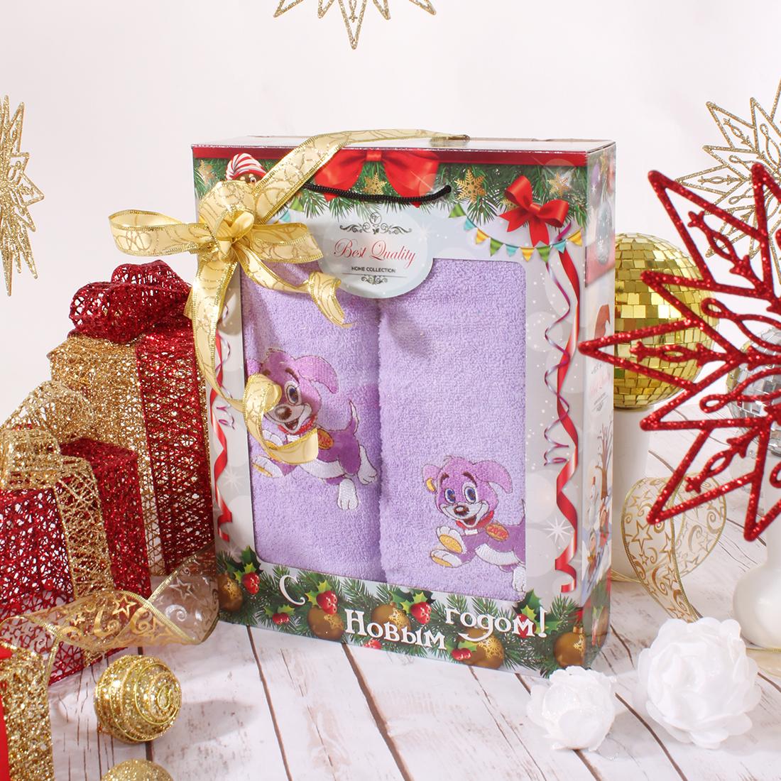 Полотенца Eleganta Полотенце Медаль Цвет: Фиолетовый (50х90 см,70х140 см)