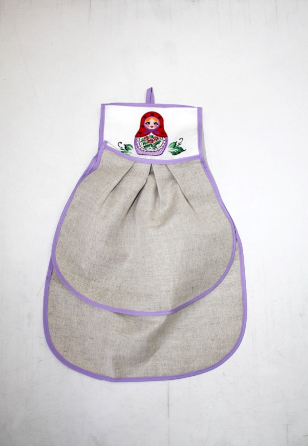 {} 8 Марта Кухонное полотенце Матрешка Вятская Цвет: Фиолетовый (40х53 см)