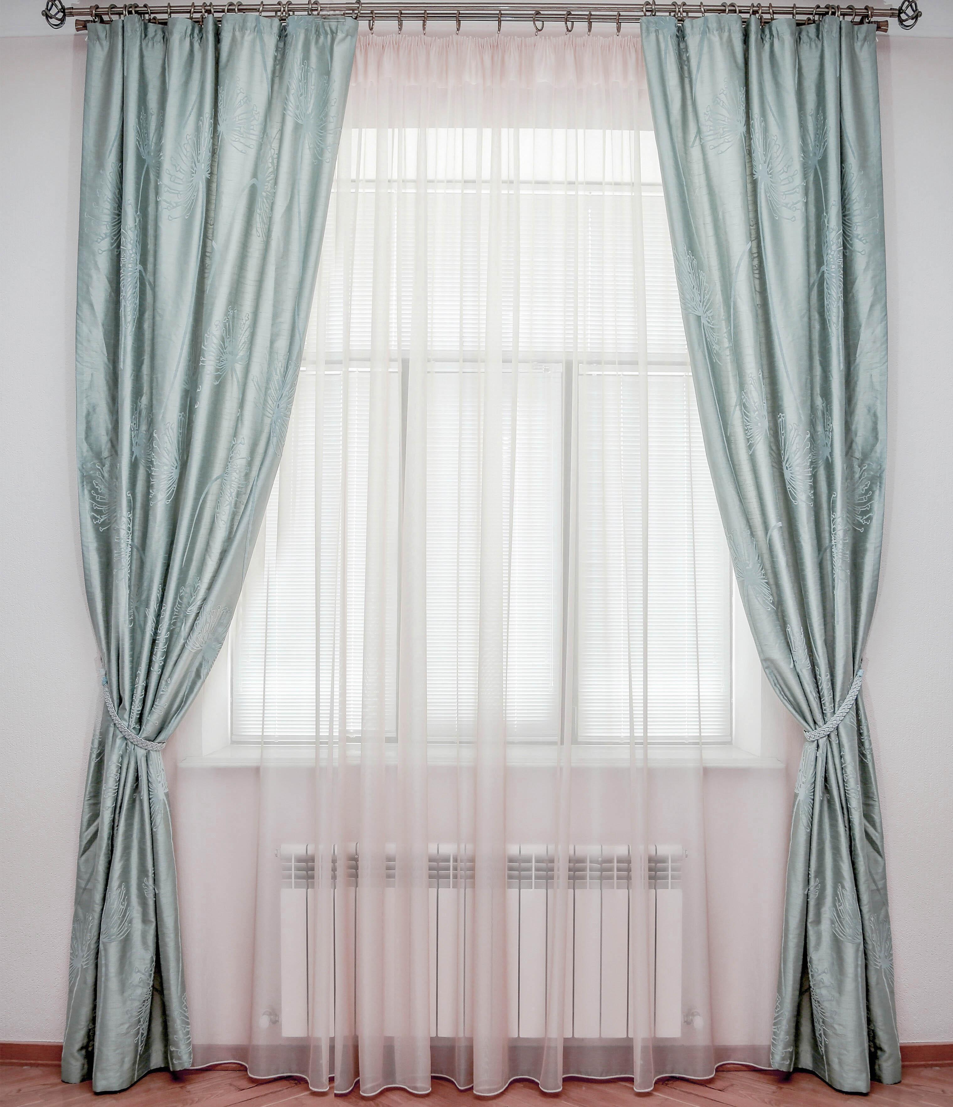 Шторы Interiotex Классические шторы Анита Цвет: Серо-Голубой