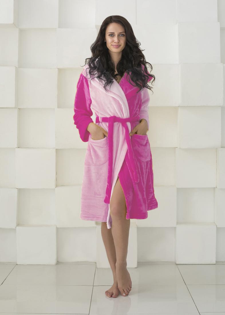 Домашние халаты Sleep iX Домашний халат HomySoft Цвет: Розовый (L) домашние халаты mia mia домашний халат yesenia xl