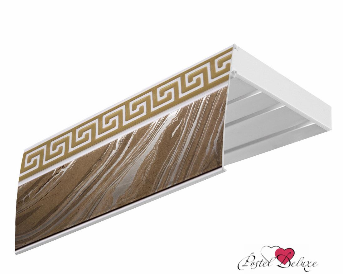 Карнизы и аксессуары для штор Эскар Карниз Эконом+ Греция Цвет: Агат, Золото (180 см)