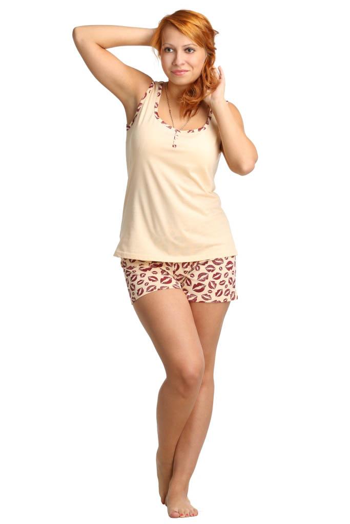 Пижамы ElenaTex Пижама Janie Цвет: Кремовый (M-L) пижама жен mia cara майка шорты botanical aw15 ubl lst 264 р 42 44 1119503