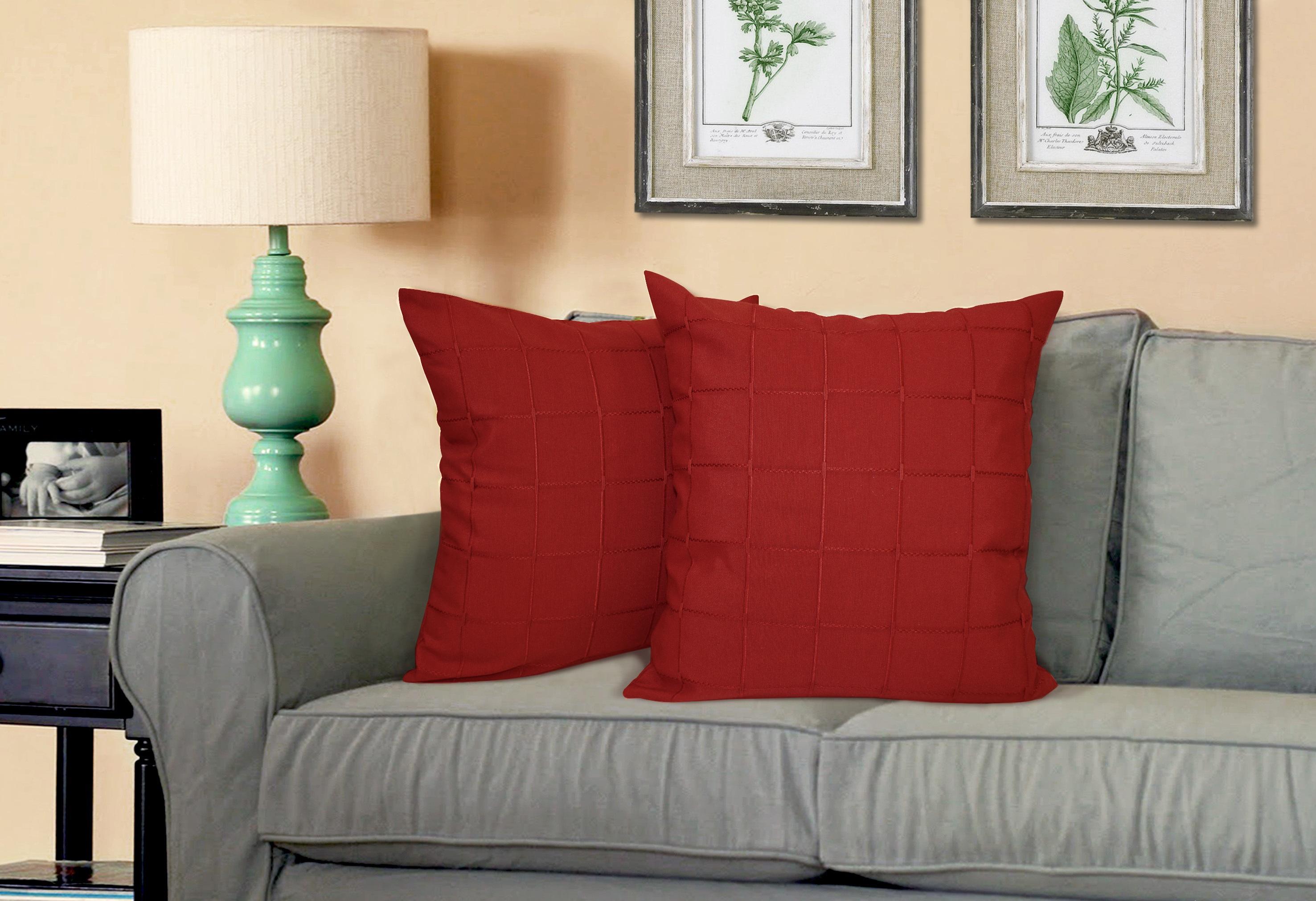 Декоративные подушки Kauffort Декоративная подушка Ammi Цвет: Темно-Красный (40х40) штора легкая kauffort barolo