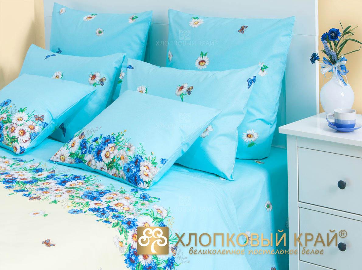 Постельное белье Хлопковый Край Постельное белье Камилла Цвет: Голубой (семейное)