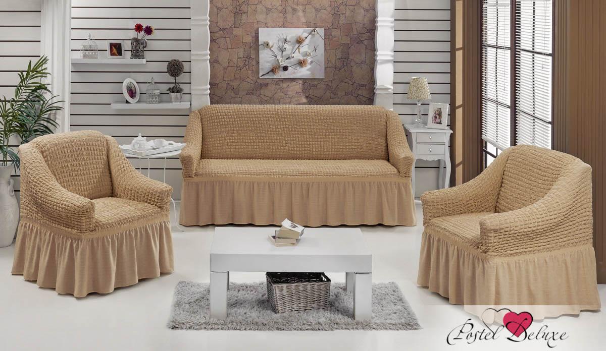 {} Every Набор чехлов для дивана Every Цвет: Бежевый набор чехлов для мягкой мебели 3 предмета every 1799 char009