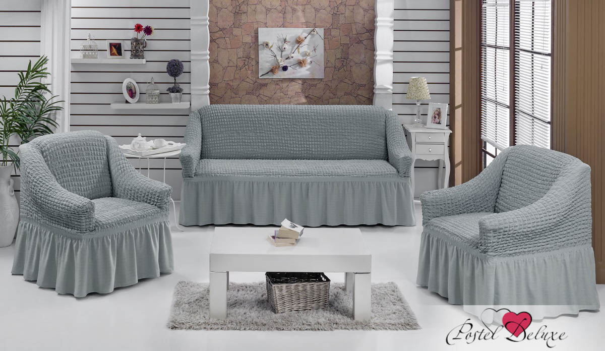 {} Every Набор чехлов для дивана Every Цвет: Серый набор чехлов для мягкой мебели 3 предмета every 1799 char009