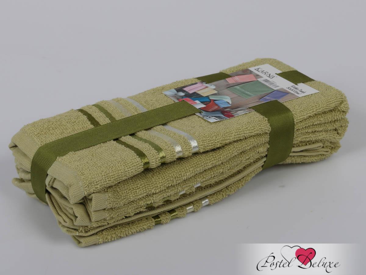 Полотенца Karna Полотенце Bale Цвет: Зеленый (30х50 см - 3 шт) karna karna bale 30 50 3