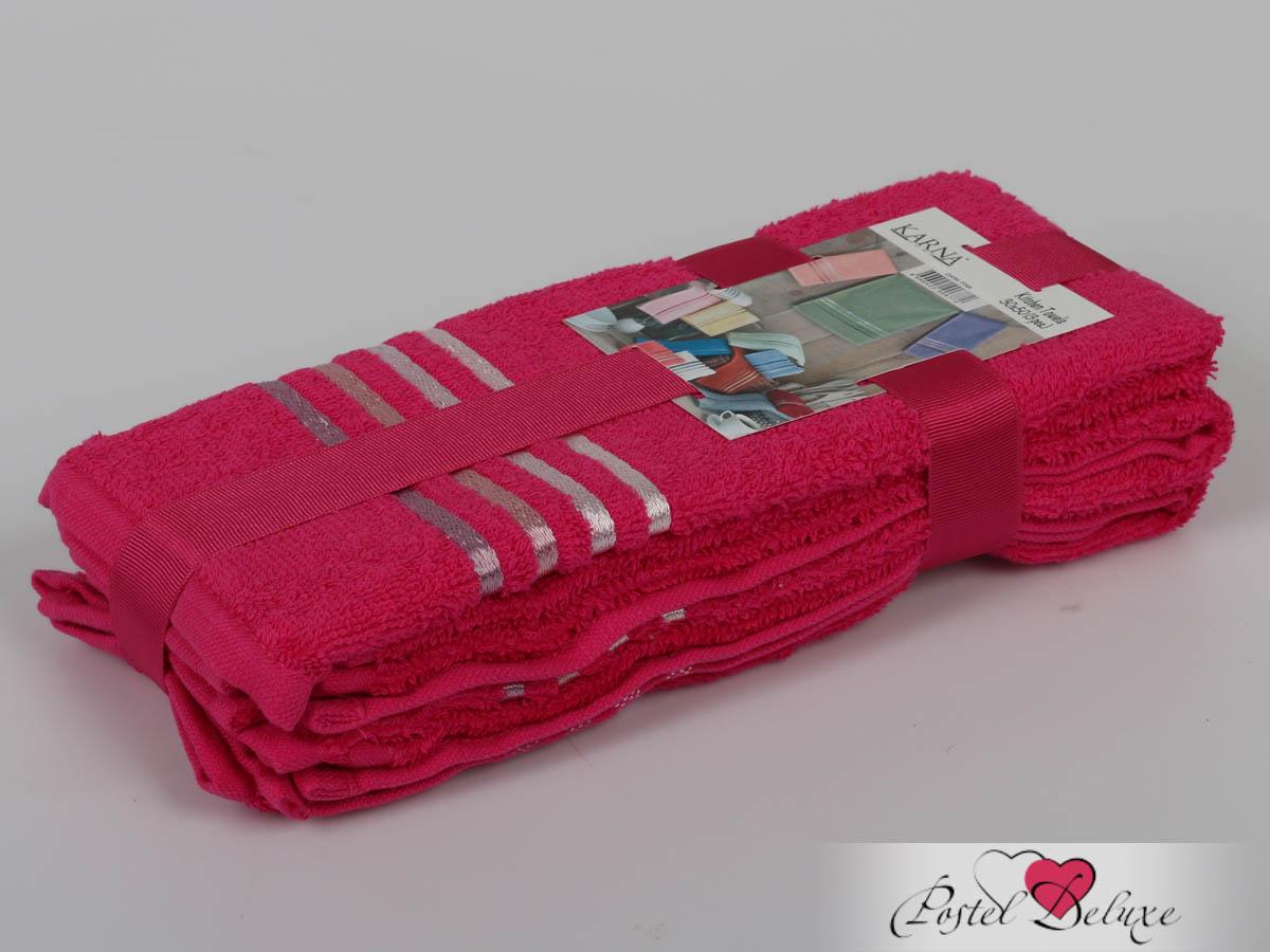 Полотенца Karna Полотенце Bale Цвет: Малиновый (30х50 см - 3 шт) karna karna bale 30 50 3