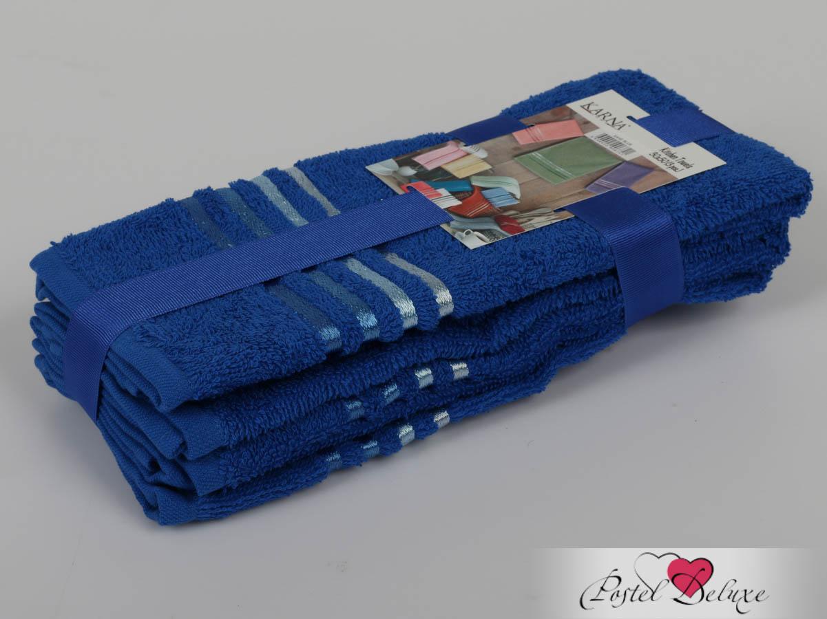 Полотенца Karna Полотенце Bale Цвет: Парламент (30х50 см - 3 шт) karna karna bale 30 50 3
