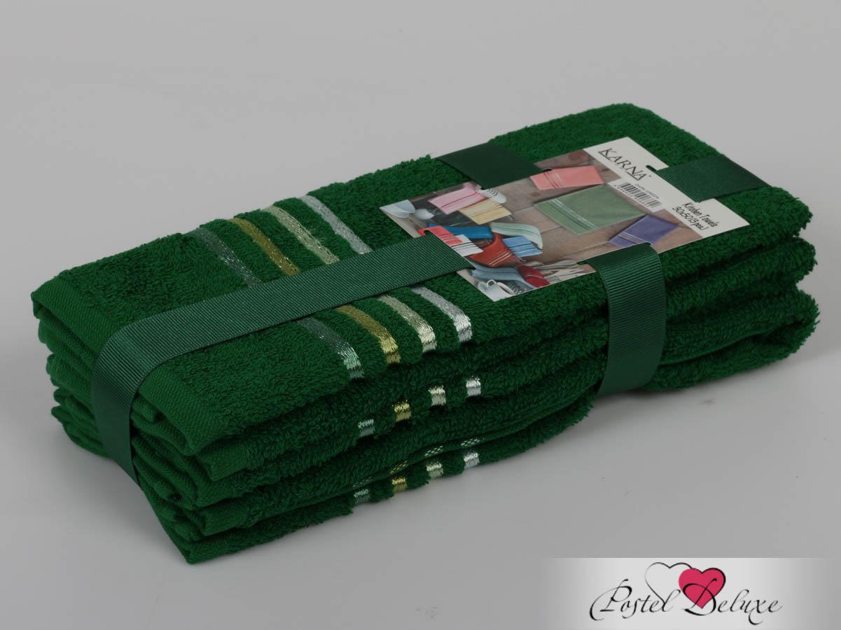 Полотенца Karna Полотенце Bale Цвет: Темно-Зеленый (30х50 см - 3 шт) karna karna bale 30 50 3
