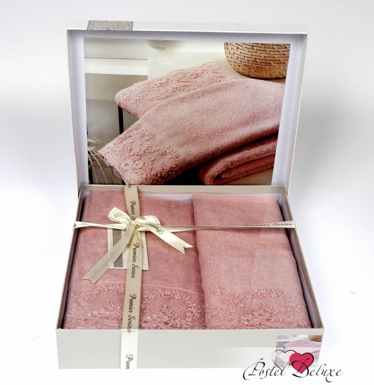 Полотенца Karna Полотенце Elinda Цвет: Пудра (Набор) наматрасник karna с пропиткой 120x200 см