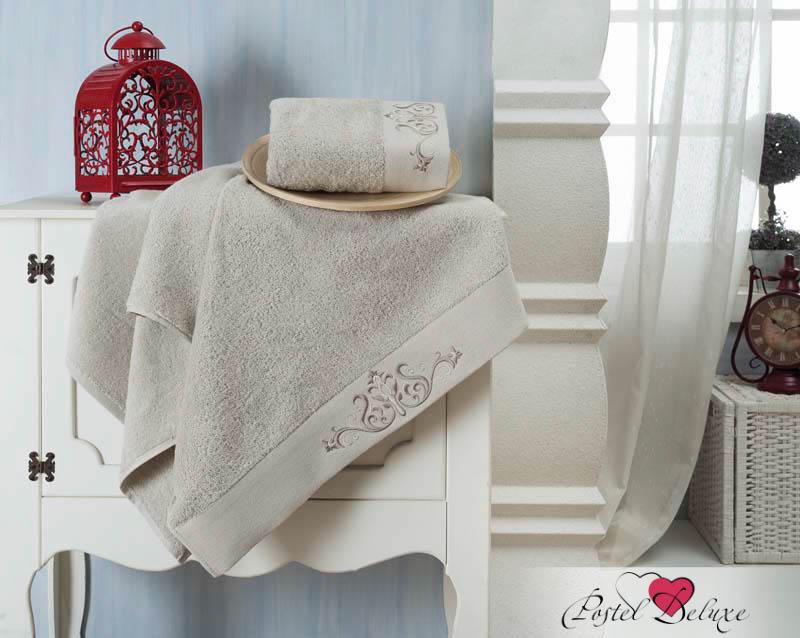 Полотенца Karna Полотенце Velsen Цвет: Стоне (Набор) покрывало karna rose с вышивкой стоне 160х220 см