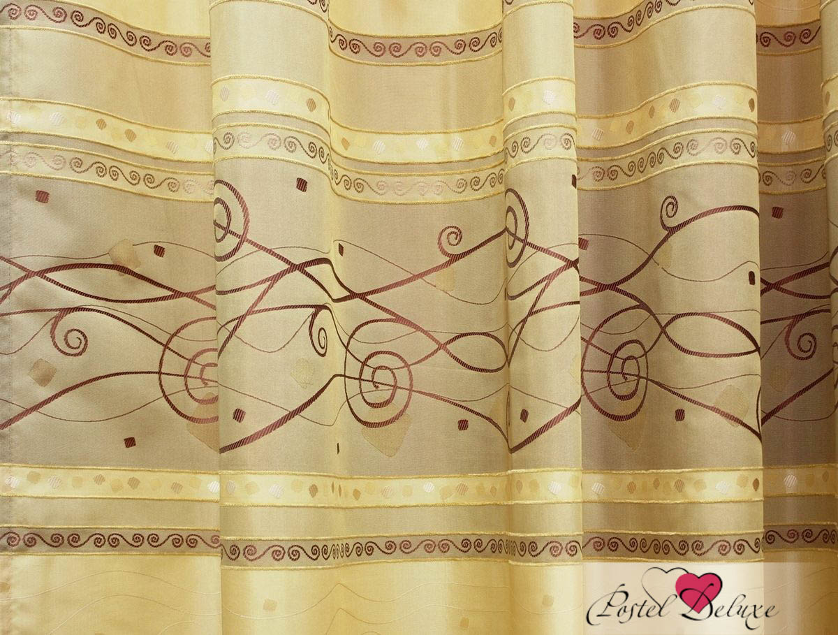 Шторы Kauffort Классические шторы Aktavia-S Цвет: Светло-Коричневый шторы kauffort классические шторы kimberly s цвет красный