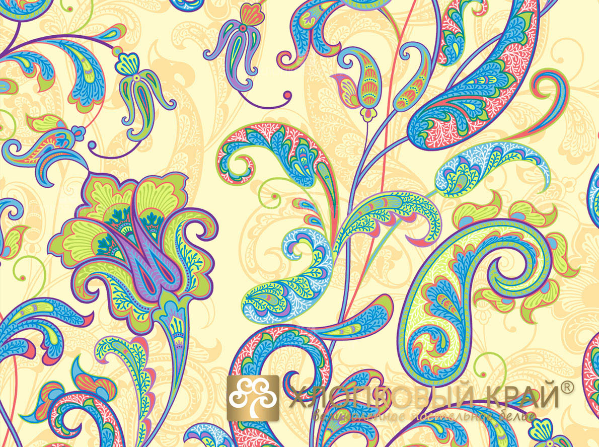 Постельное белье Хлопковый Край Постельное белье Кемер Цвет: Лайм (семейное)