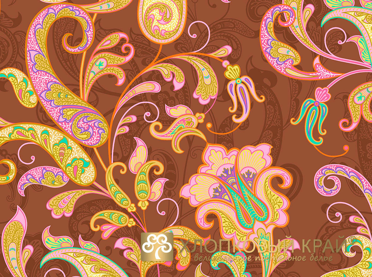 Постельное белье Хлопковый Край Постельное белье Кемер Цвет: Мокко (семейное)