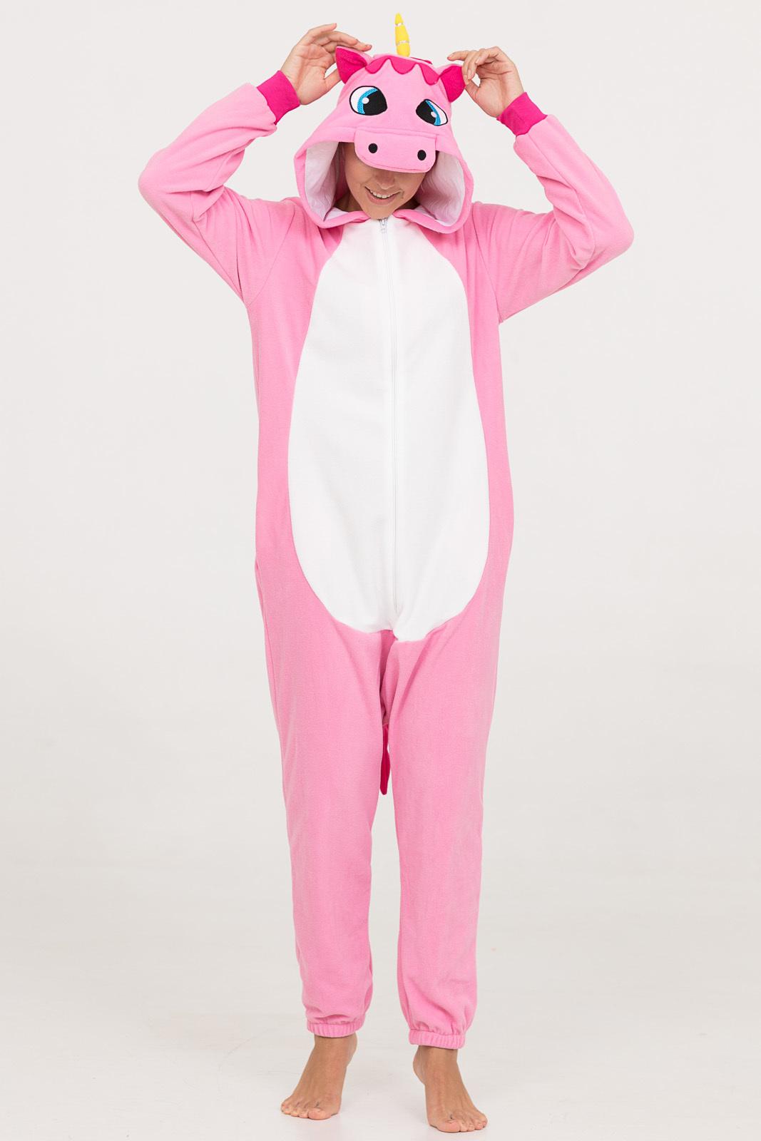 Пижамы Футужама Пижама-кигуруми Розовый Единорог (L)