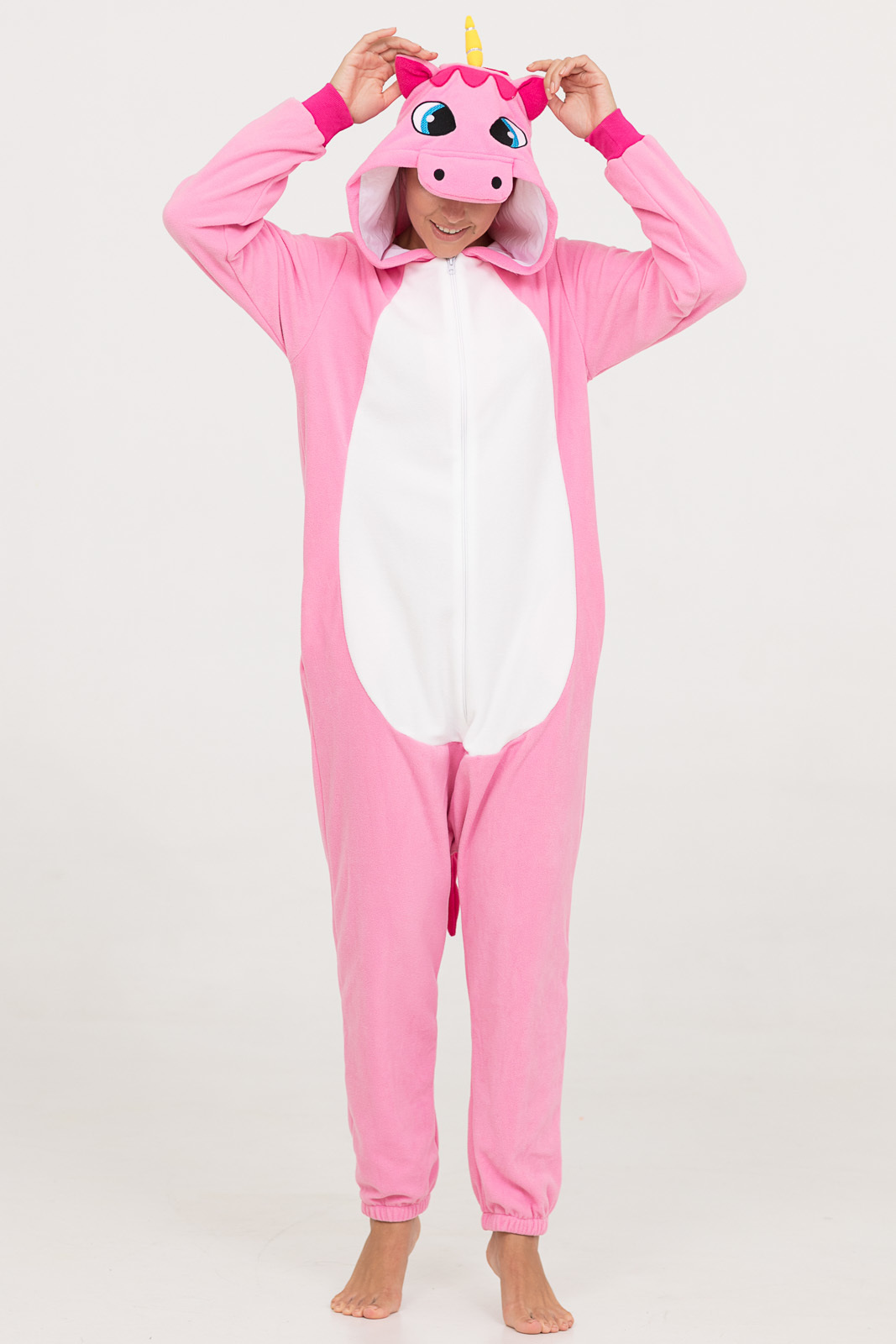 Пижамы Футужама Пижама-кигуруми Розовый Единорог (xL)