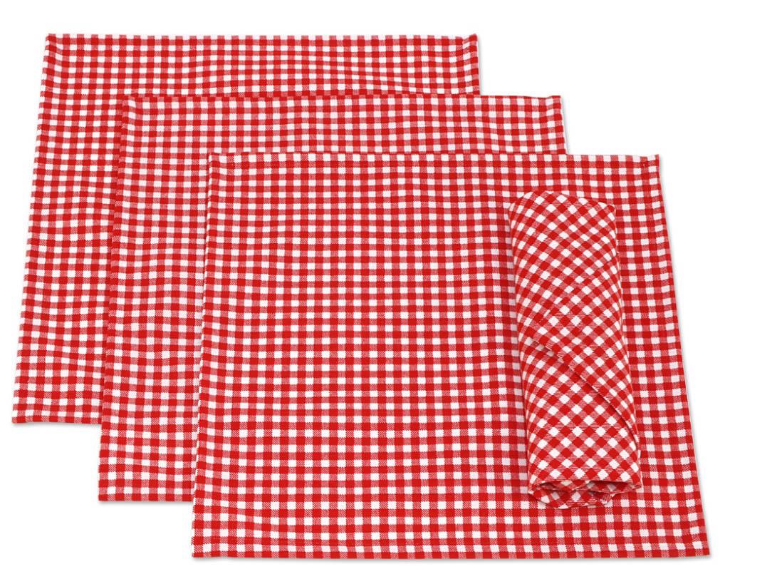 где купить Скатерти и салфетки Kauffort Салфетки Kimberly Цвет: Красный (32х32 см - 4 шт) по лучшей цене