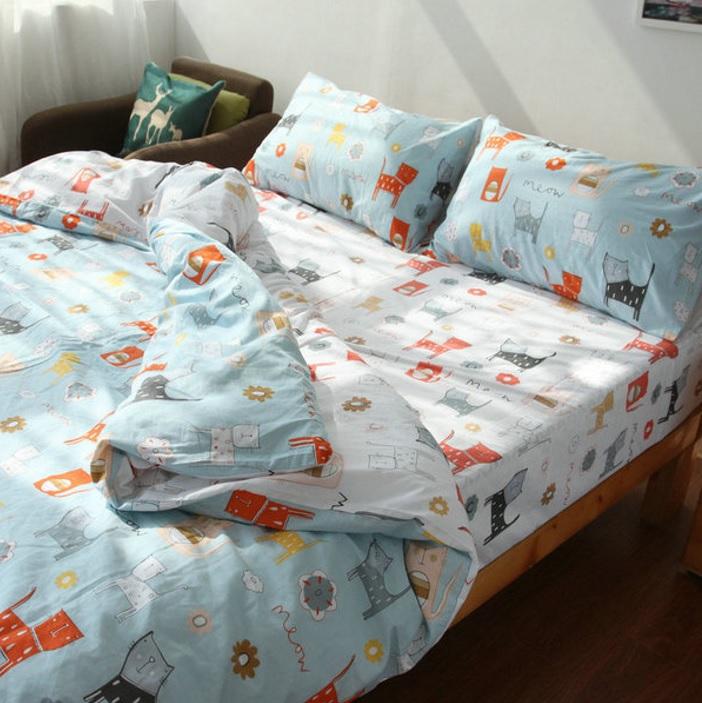 Постельное белье Riteil Постельное белье Meow (2 сп. евро) постельное белье адель постельное белье регата 2 евро