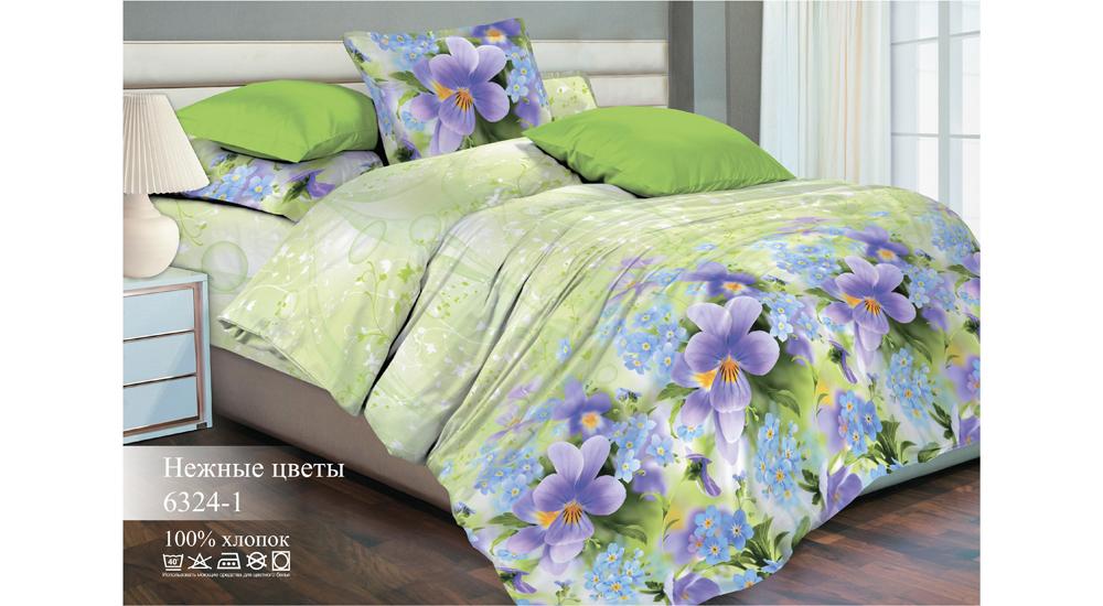 Постельное белье ТК Хлопковый Рай Постельное белье Нежные цветы (семейное)