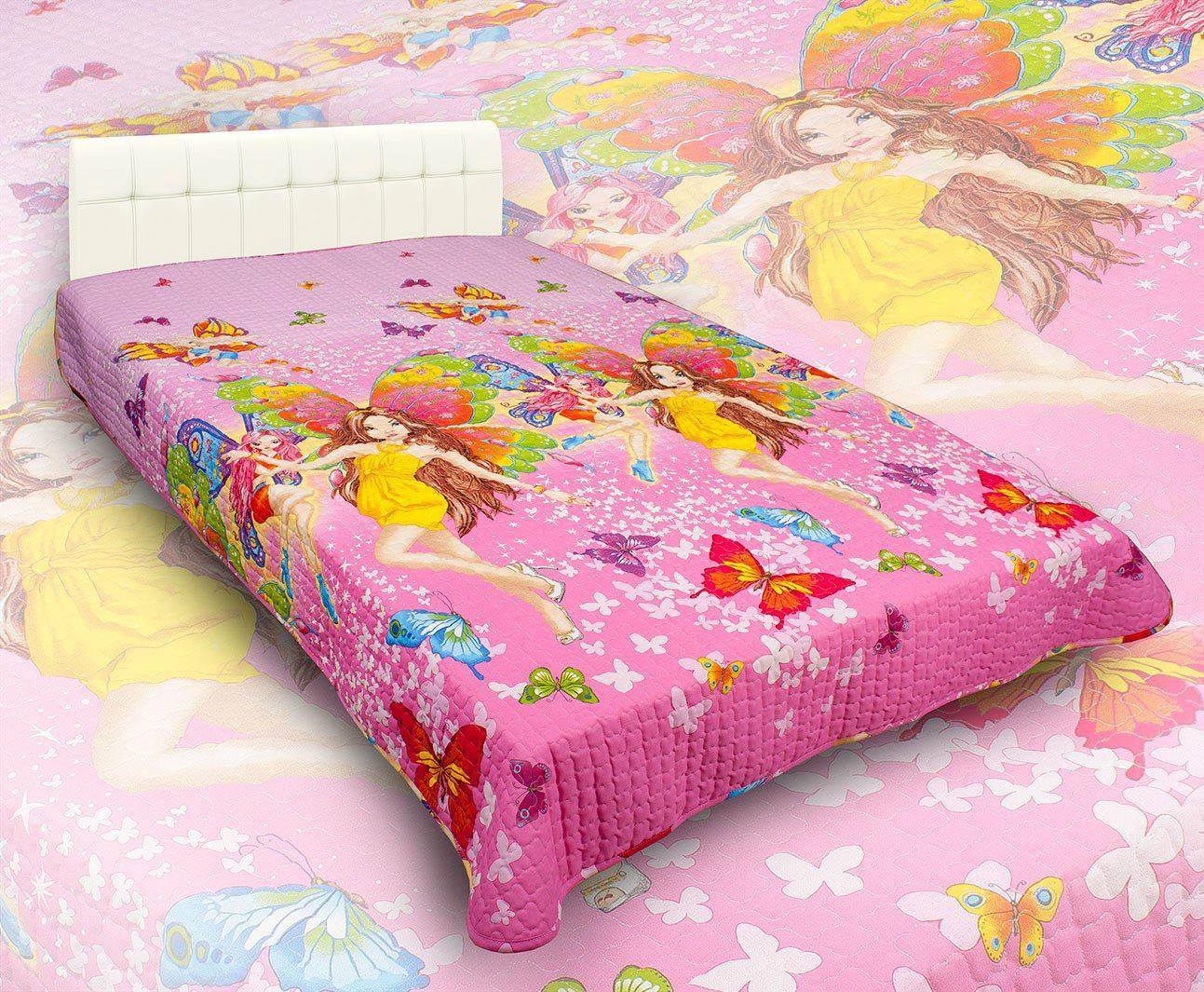 Детские покрывала, подушки, одеяла AlViTek Детское покрывало Красотки (150х215 см) покрывало рафаэль поплин 150х215